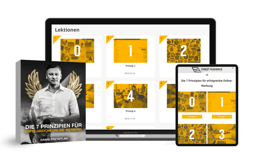 7 Prinzipien Online Kurs Finest Audience by Dawid Przybylski - Facebook Marketing - Instagram Marketing
