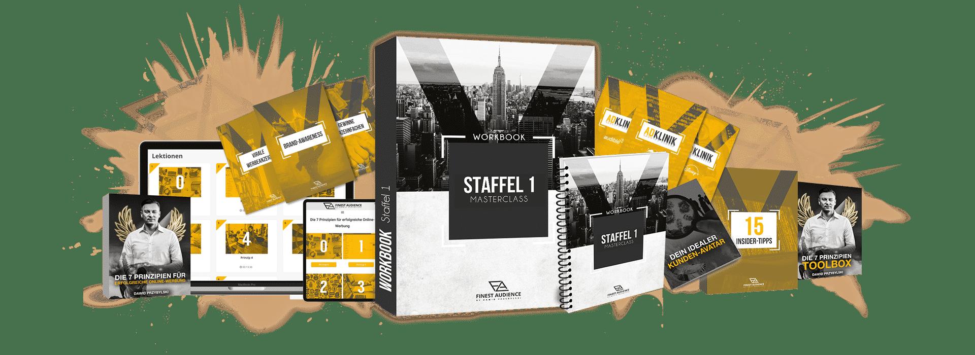mockup staffel 1 masterclass Finest Audience by Dawid Przybylski - Facebook Marketing - Instagram Marketing