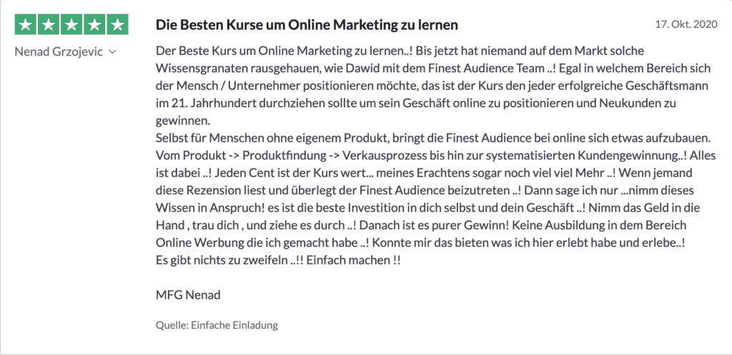 Bildschirmfoto 2020 11 20 um 11.23.29 Finest Audience by Dawid Przybylski - Facebook Marketing - Instagram Marketing