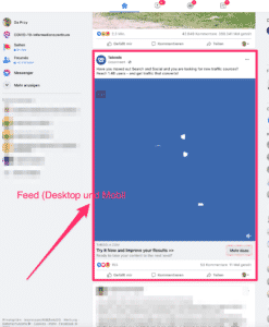 Facebook Ads im Feed Format